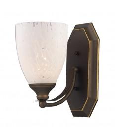 ELK Lighting 570-1B-SW 1 Light Vanity in Aged Bronze and Snow White Glass