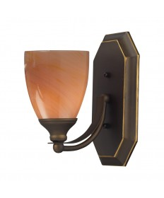 ELK Lighting 570-1B-SY 1 Light Vanity in Aged Bronze and Sandy Glass
