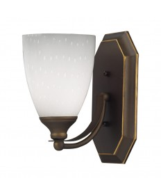 ELK Lighting 570-1B-WH 1 Light Vanity in Aged Bronze and Simply White Glass
