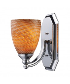 ELK Lighting 570-1C-C 1 Light Vanity in Polished Chrome and Coco Glass