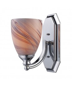 ELK Lighting 570-1C-CR 1 Light Vanity in Polished Chrome and Creme Glass