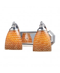 ELK Lighting 570-2C-C 2 Light Vanity in Polished Chrome and Coco Glass
