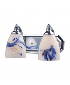 ELK Lighting 570-2C-MT 2 Light Vanity in Polished Chrome and Mountain Glass