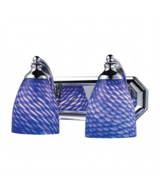 ELK Lighting 570-2C-S 2 Light Vanity in Polished Chrome and Sapphire Glass