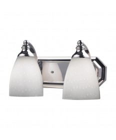 ELK Lighting 570-2C-WH 2 Light Vanity in Polished Chrome and Simply White Glass