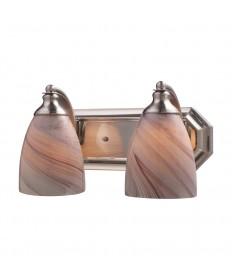 ELK Lighting 570-2N-CR 2 Light Vanity in Satin Nickel and Creme Glass