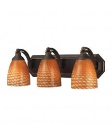 ELK Lighting 570-3B-C 3 Light Vanity in Aged Bronze and Coco Glass
