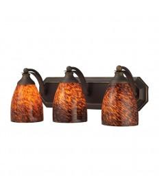 ELK Lighting 570-3B-ES 3 Light Vanity in Aged Bronze and Espresso Glass