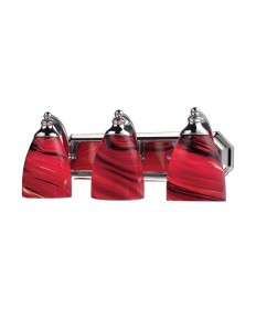 ELK Lighting 570-3C-A 3 Light Vanity in Polished Chrome and Autumn Glass