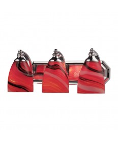 ELK Lighting 570-3C-CY 3 Light Vanity in Polished Chrome and Canary Glass