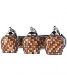 ELK Lighting 570-3C-MLT 3 Light Vanity in Polished Chrome and Multi Mosaic Glass