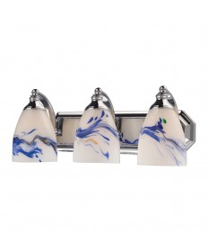 ELK Lighting 570-3C-MT 3 Light Vanity in Polished Chrome and Mountain Glass