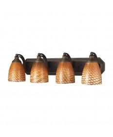 ELK Lighting 570-4B-C 4 Light Vanity in Aged Bronze and Coco Glass
