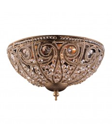 ELK Lighting 5962/3 Elizabethan 3 Light Flush Mount in Dark Bronze