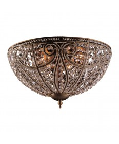 ELK Lighting 5963/6 Elizabethan 6 Light Flush Mount in Dark Bronze