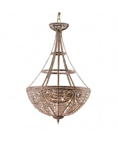 ELK Lighting 5965/4 Elizabethan 4 Light Pendant in Dark Bronze