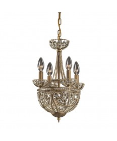ELK Lighting 5973/4+1 Elizabethan 5 Light Chandelier in Dark Bronze