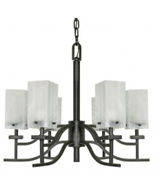 Nuvo Lighting 60/000 Cubica 6 Light 26 inch Chandelier with Alabaster Glass
