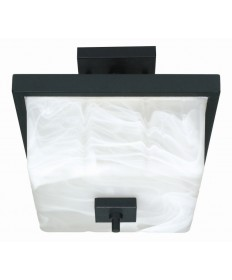 Nuvo Lighting 60/002 Cubica 2 Light 12 inch Semi-Flush with Alabaster Glass
