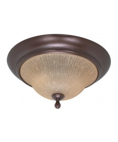 Nuvo Lighting 60/011 Moulan 2 Light 16 inch Flush Mount with Champagne Linen Washed Glass