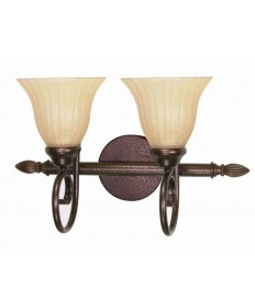 Nuvo Lighting 60/016 Moulan 2 Light 18 inch Vanity with Champagne Linen Washed Glass