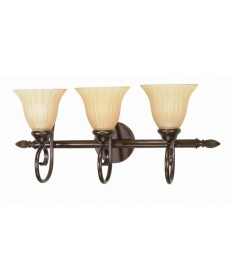 Nuvo Lighting 60/017 Moulan 3 Light 25 inch Vanity with Champagne Linen Washed Glass