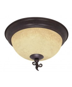 Nuvo Lighting 60/041 Tapas 3 Light 15 inch Flush Mount with Tuscan Suede Glass