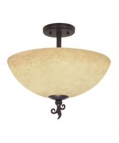 Nuvo Lighting 60/042 Tapas 3 Light 16 inch Semi-Flush with Tuscan Suede Glass