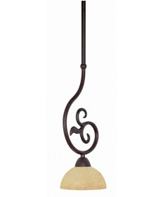 Nuvo Lighting 60/043 Tapas 1 Light 6 inch Mini Pendant with Hang-Straight Canopy