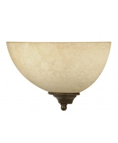 Nuvo Lighting 60/044 Tapas 1 Light 12 inch Sconce with Tuscan Suede Glass