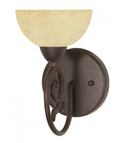 Nuvo Lighting 60/045 Tapas 1 Light 6 inch Vanity with Tuscan Suede Glass