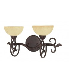 Nuvo Lighting 60/046 Tapas 2 Light 18 inch Vanity with Tuscan Suede Glass