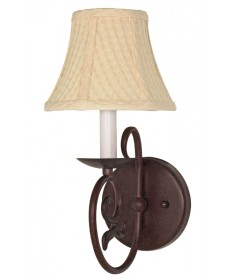 Nuvo Lighting 60/049 Tapas 1 Light 7 inch Sconce with Linen Waffle Shade