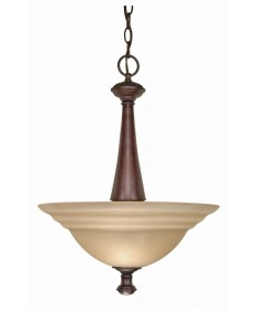 Nuvo Lighting 60/104 Mericana 2 Light 16 inch Pendant with Amber Water Glass