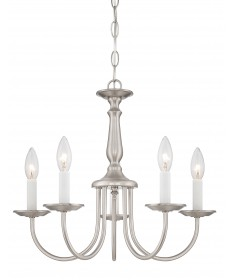 "Nuvo Lighting 60/1298 5 Light 18"" Chandelier with Candlesticks"