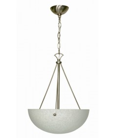 Nuvo Lighting 60/133 South Beach 3 Light 15 inch Pendant with Water Spot Glass