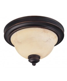 Nuvo Lighting 60/1406 Anastasia 2 Light 13 inch Flush Dome with Honey Marble Glass