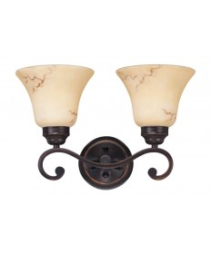 Nuvo Lighting 60/1413 Anastasia Collection 2 Light Vanity with Honey Marble Glass