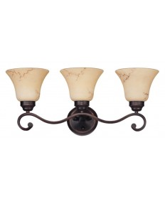 Nuvo Lighting 60/1414 Anastasia collection 3 Light Vanity with Honey Marble Glass