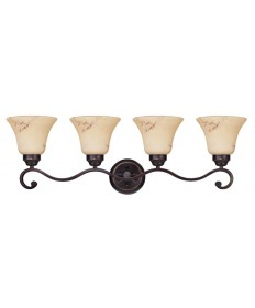Nuvo Lighting 60/1415 Anastasia Collection 4 Light Vanity with Honey Marble Glass