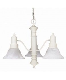 Nuvo Lighting 60/196 Gotham 3 Light 23 inch Chandelier with Alabaster Glass Bell Shades