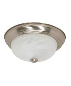 Nuvo Lighting 60/197 2 Light 11 inch Flush Mount Alabaster Glass