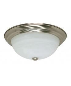 Nuvo Lighting 60/199 3 Light 15 inch Flush Mount Alabaster Glass
