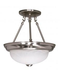 Nuvo Lighting 60/200 2 Light 11 inch Semi-Flush Alabaster Glass