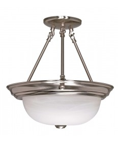 Nuvo Lighting 60/201 2 Light 13 inch Semi-Flush Alabaster Glass