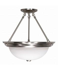 Nuvo Lighting 60/202 3 Light 15 inch Semi-Flush Alabaster Glass