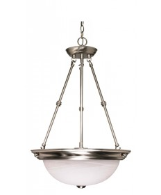 Nuvo Lighting 60/203 3 Light 15 inch Pendant Alabaster Glass