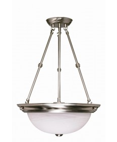 Nuvo Lighting 60/204 3 Light 20 inch Pendant Alabaster Glass