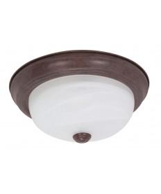 Nuvo Lighting 60/205 2 Light 11 inch Flush Mount Alabaster Glass