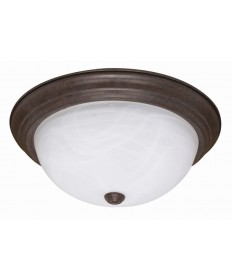 Nuvo Lighting 60/206 2 Light 13 inch Flush Mount Alabaster Glass